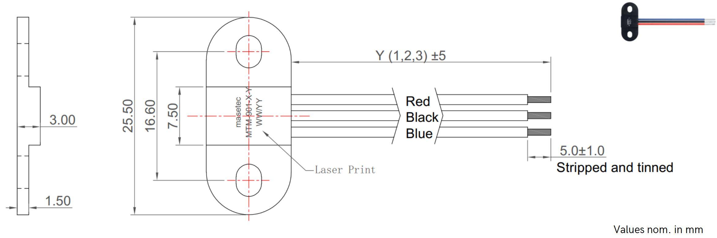 TMR Sensor Bipolar Switch MTM-901-5