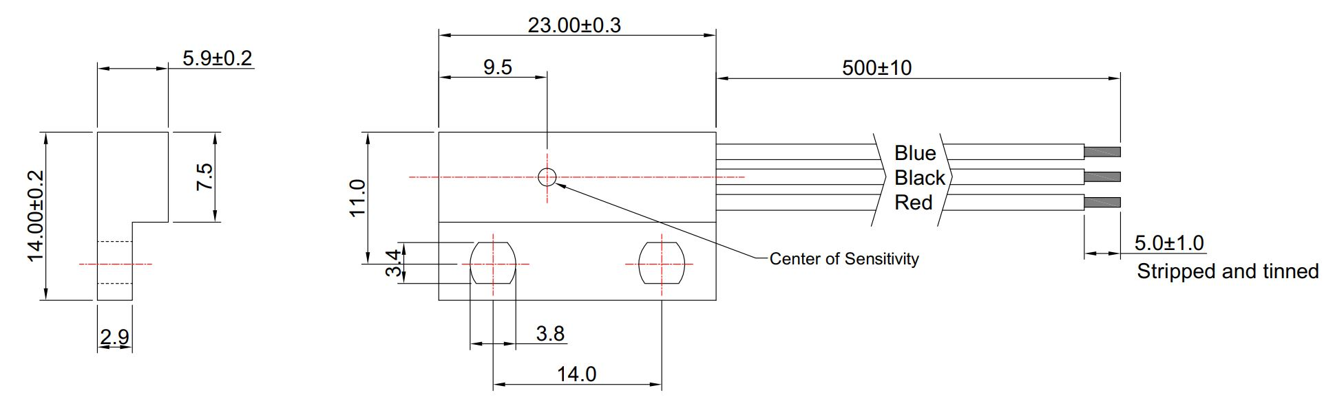 Hallsensor Unipolar Switch MHS-102 (3-Draht)