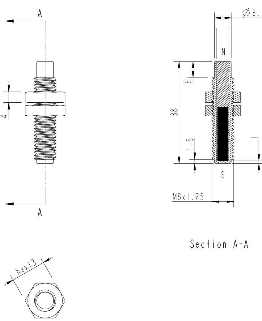 Magnet M8 Gewinde MMA-305