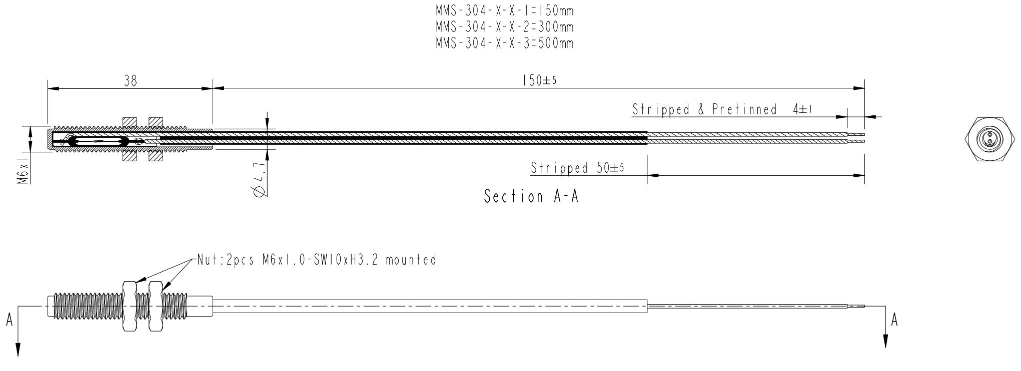 Magnet M6 Gewinde MMA-304