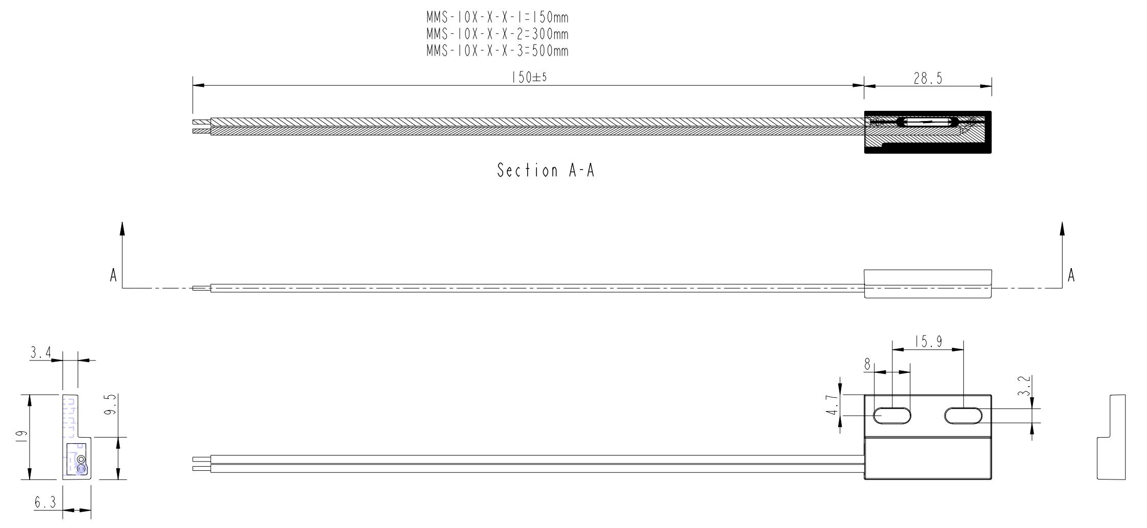 Reedsensor Flange MMS-104