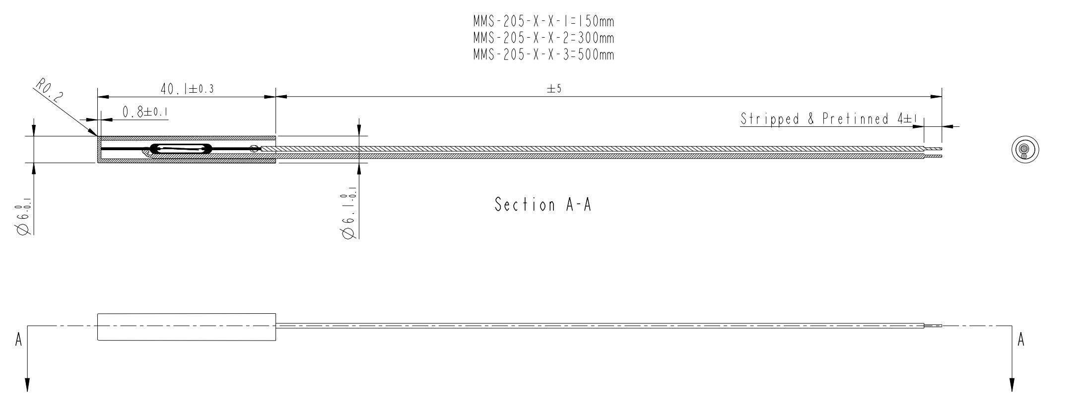 Reedsensor Tubular MMS-205